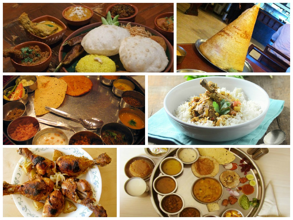 A plate full of indian food from 7 different states for Ancient indian cuisine