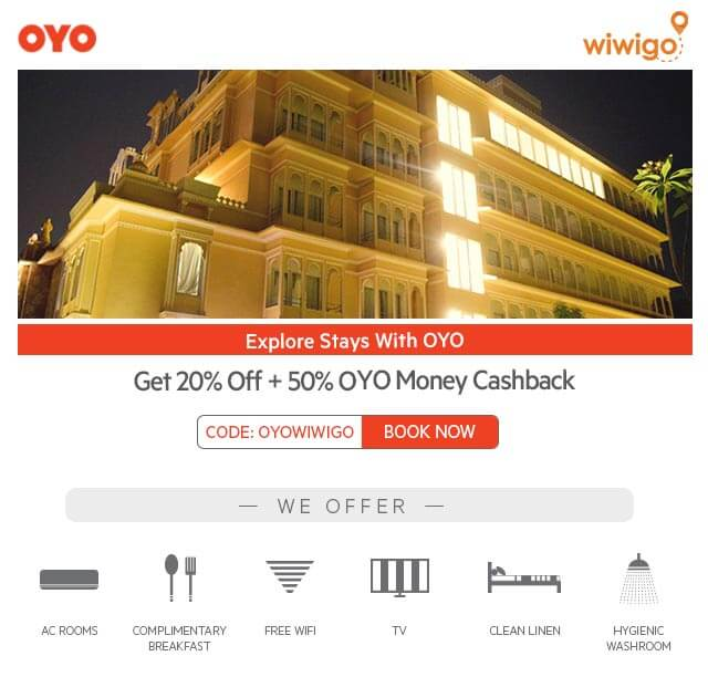 "Make your ""Monsoon Ride"" free with WIWIGO by booking hotels at destinations with OYO"